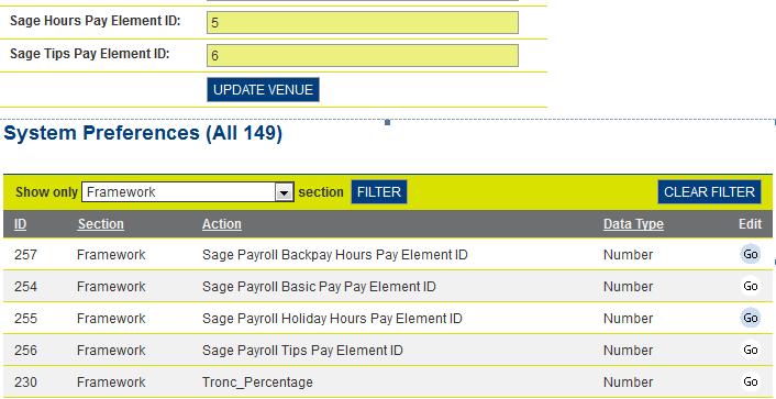 Sage Payroll Elements